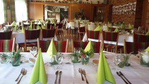 Tischgedeck Festsaal